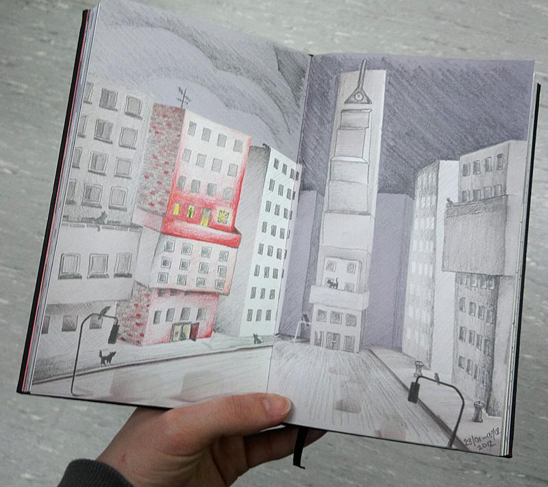 Fertig - meine erste volle Seite im Swop Book