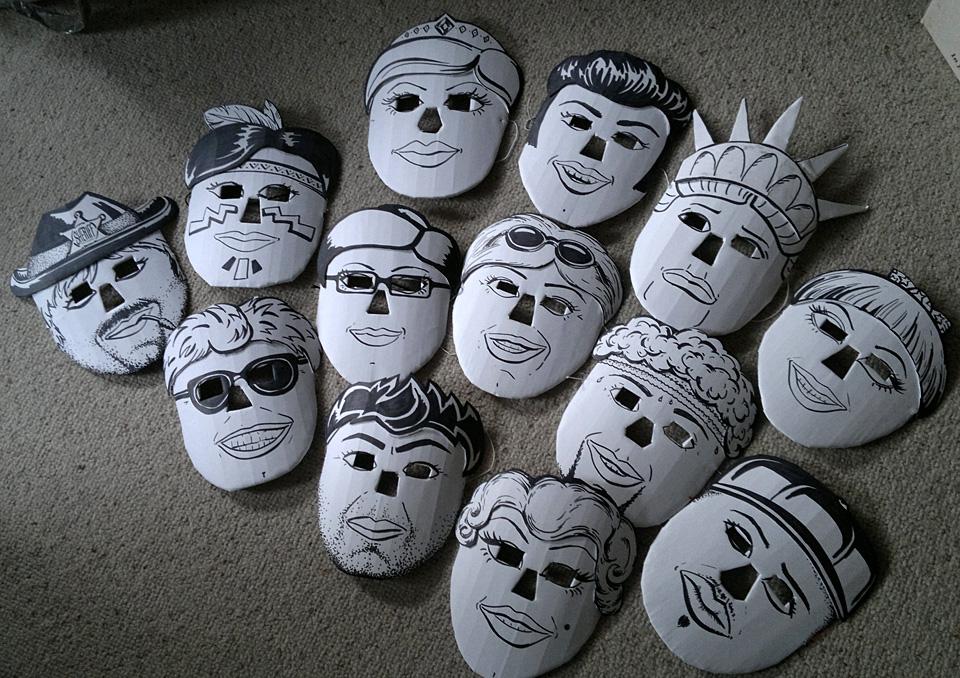 Masken zu einer Choreographie USA