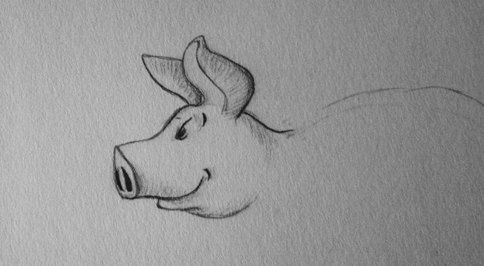 Ein freundlich grinsendes Gesicht mit großen Ohren...