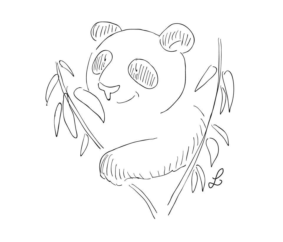 Pandabär im Bambus