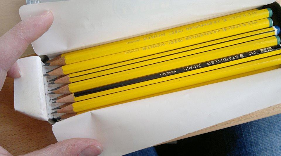 ...der Bleistifte. Diese wird mich nun auch begleiten.