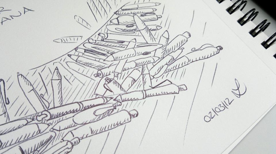 Viele Kugelschreiber tummeln sich...
