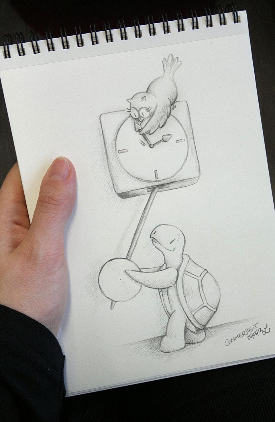 Ordentlich gezeichnet - Mittagspause 20 Minuten