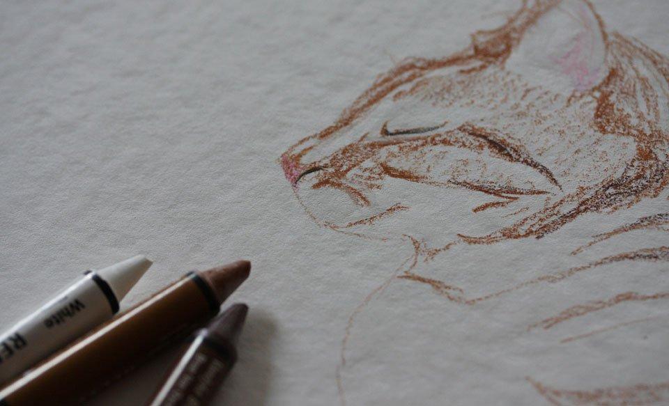 Auf Aquarellpapier vermalen sie sich nicht ganz so leicht wie auf normalem glatten Papier.