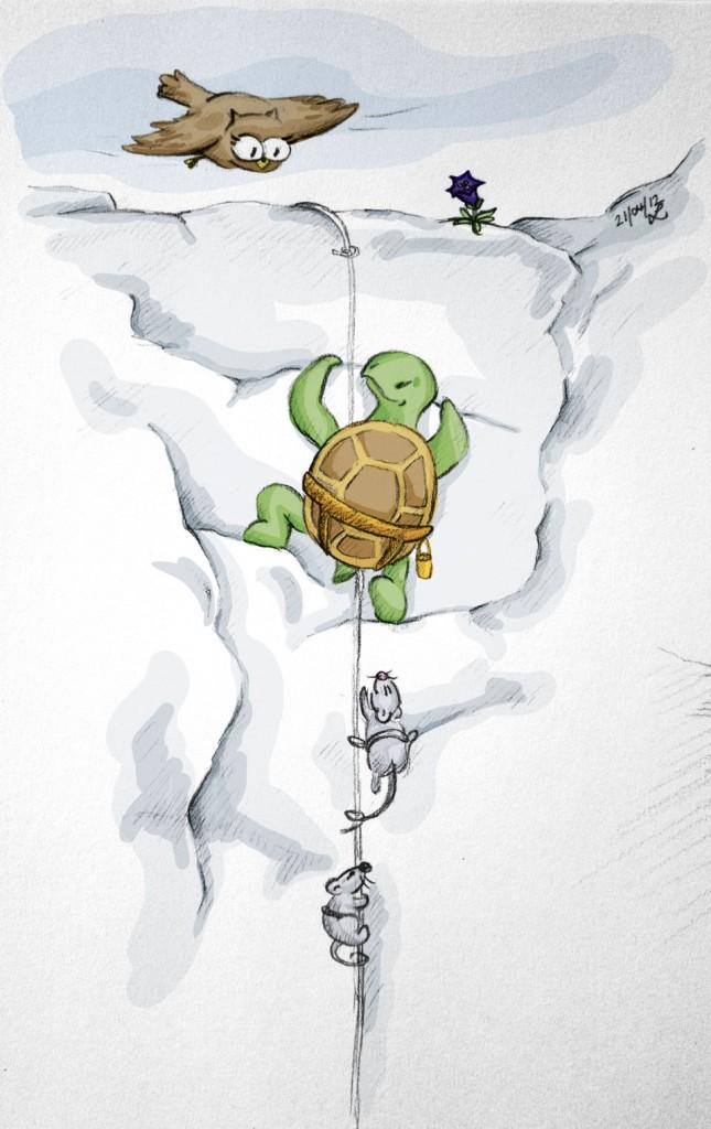 """Nun geht es hoch hinaus - während Kröt, Bimbo und Sambo """"in den Seilen hängen"""", macht Schuhuu es wie Eulen es gewohnt sind - sie fliegt nach oben!"""