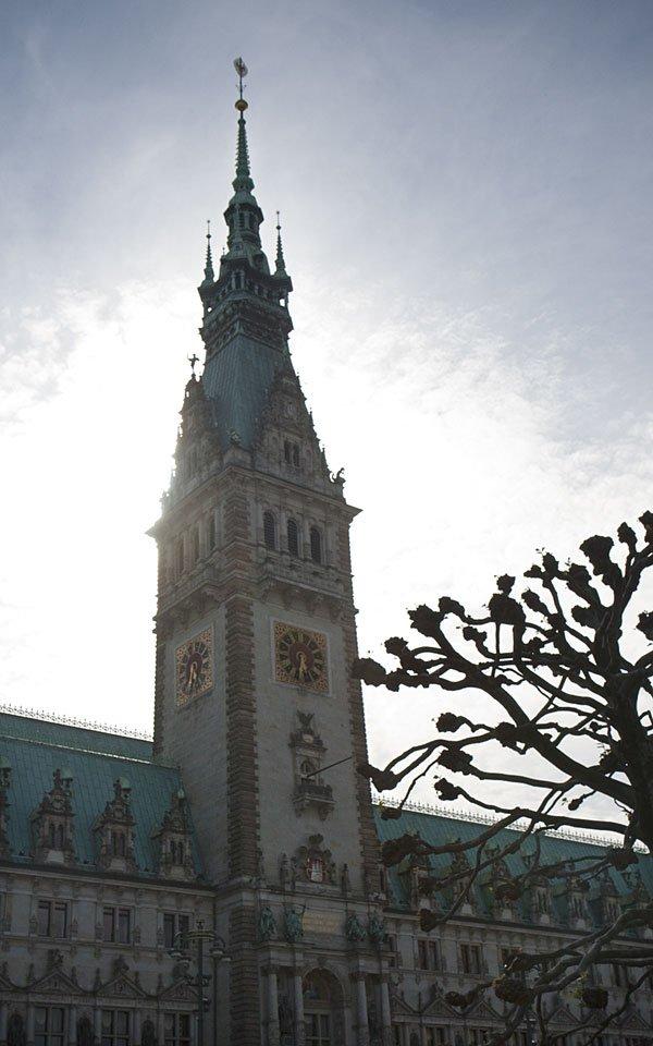 Das Hamburger Rathaus - beim nächsten Mal dann vielleicht mit Führung...