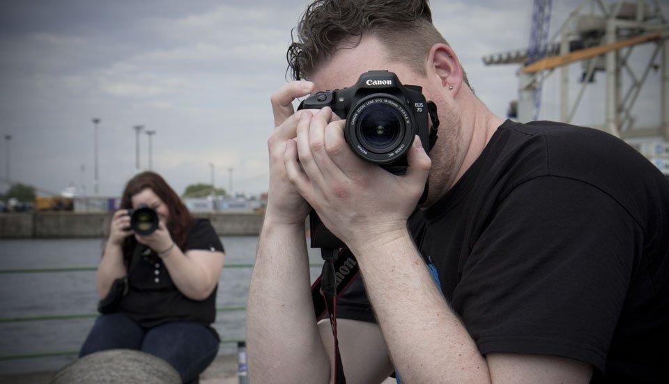 Fotografen fotografieren fotografierende Fotografen beim Fotografieren...