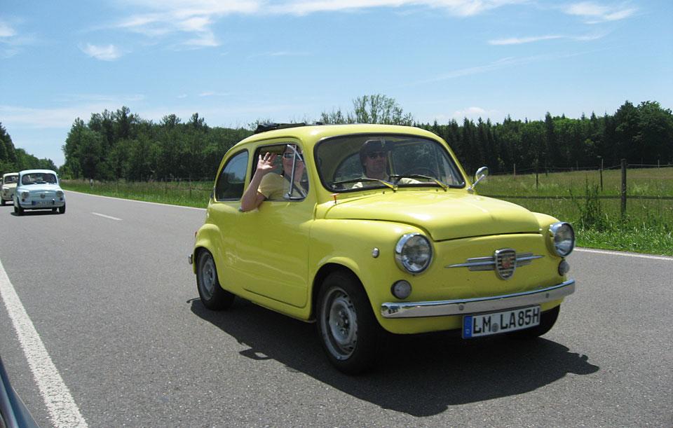 Während der Ausfahrt im gelben Flitzer!