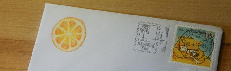 Kam mit wunderschöner Briefmarke und war auch sofort zu erkennen!