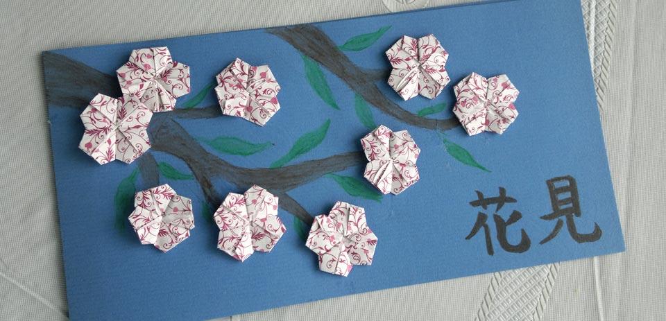 Diese Karte voller Blüten kam von Elorie