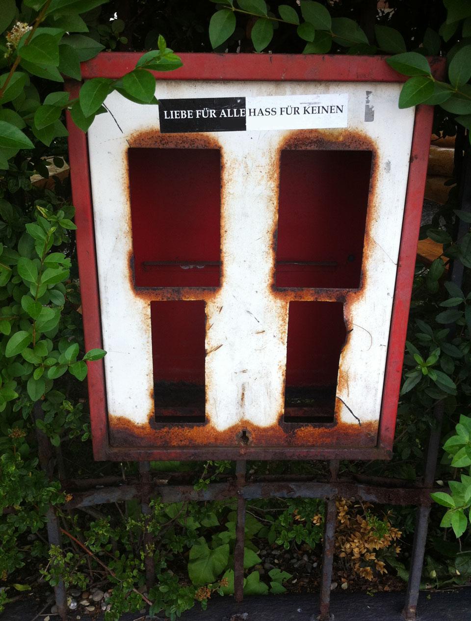 Leer und verlassen: Ein Kaugummiautomat in Frankfurt.