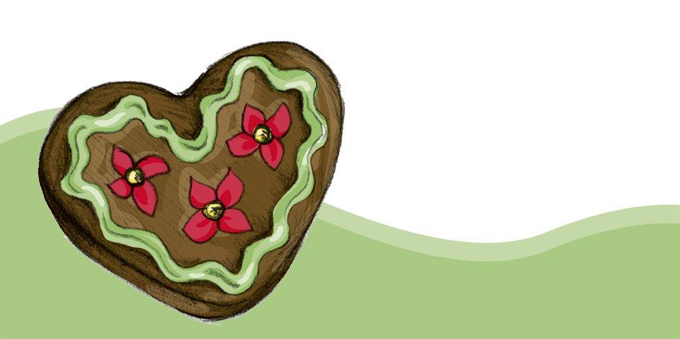 Ein leckeres Lebkuchen-Herz