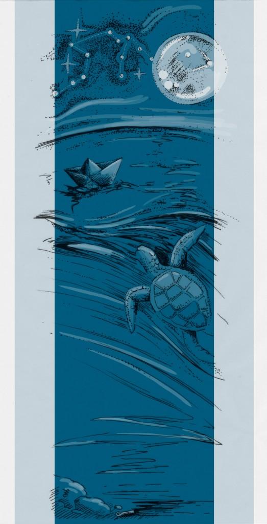 Dunkles Wasserblau...