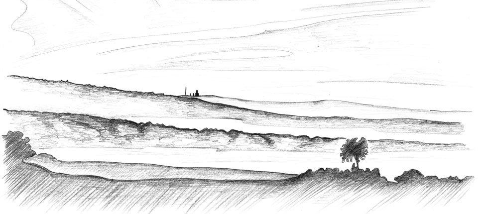 Der Feldberg im Taunus wie ich in jeden Morgen auf meinem Weg zur Arbeit sehe