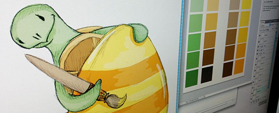 ...und zur Entspannung mal ein altes Motiv schnell coloriert.