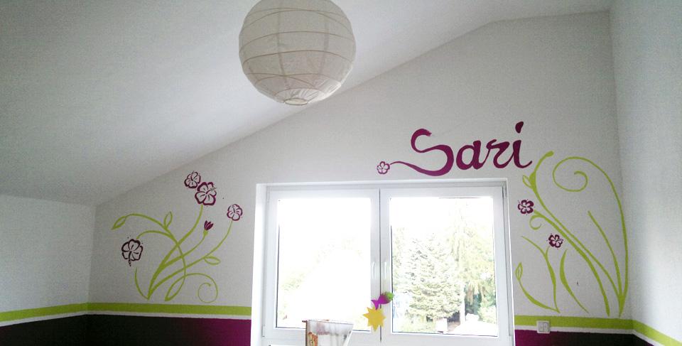 Ein paar Linien fehlen noch –Saris Kinderzimmer.