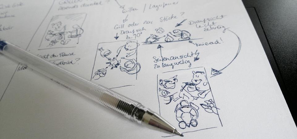 Skribble für ein Kalenderblatt –so viele Möglichkeiten...