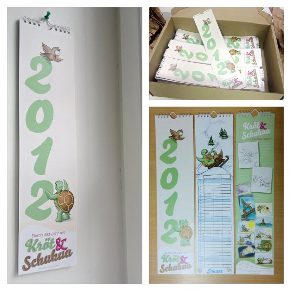 Der Streifenkalender für 2012.