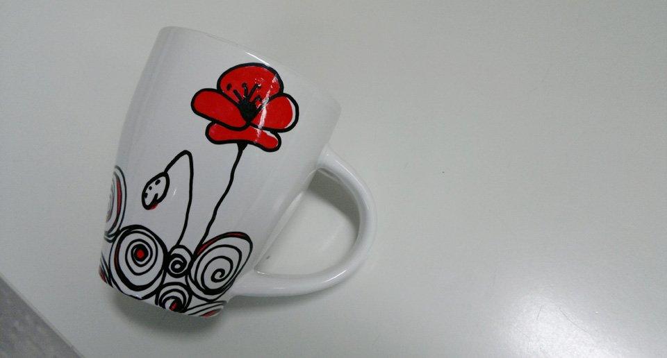 Kringel auf einer Tasse.