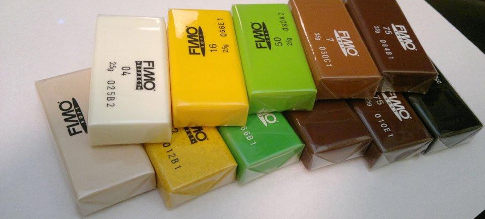 Fimo Blöcke in passenden Farben für...