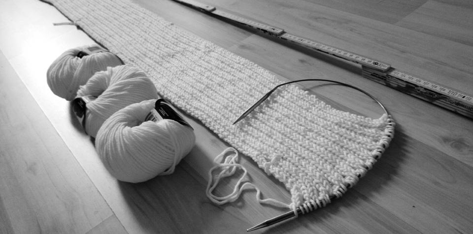 Halbzeit beim 3-Meter-Schal-Projekt