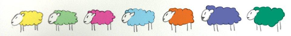 Jedes Schaf möchte ganz individuell sein.