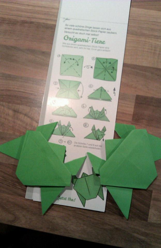 Zwei Papier-Turtles von Lisa und Katrine –Lieben Dank für das Foto.