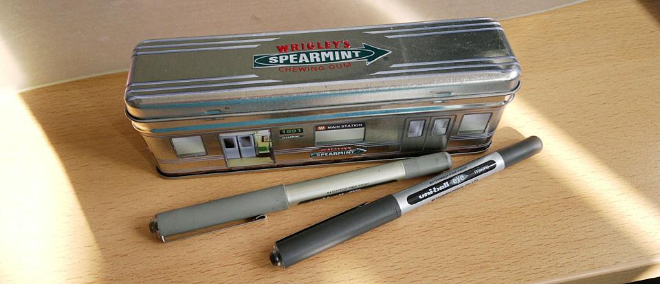 Meine Stifteklapperbox – immer dabei.