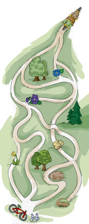 Welchen Weg müssen die beiden Freunde nehmen um bei den Mäusen anzukommen?