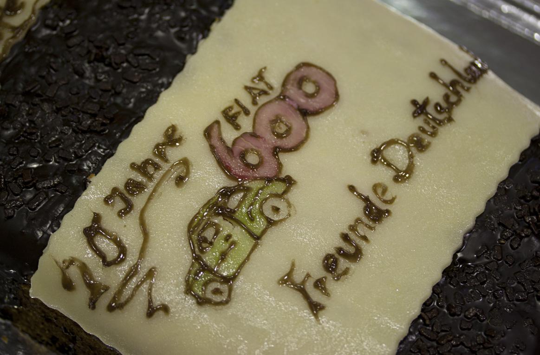 Geburtstagskuchen für Fiat 600 Freunde.