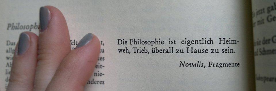 Etwas über Philosophie…