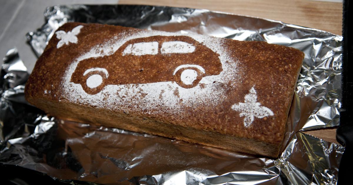 Fast schon ein Muss: Fiat 600 Kuchen! Danke an die Bäckerin!