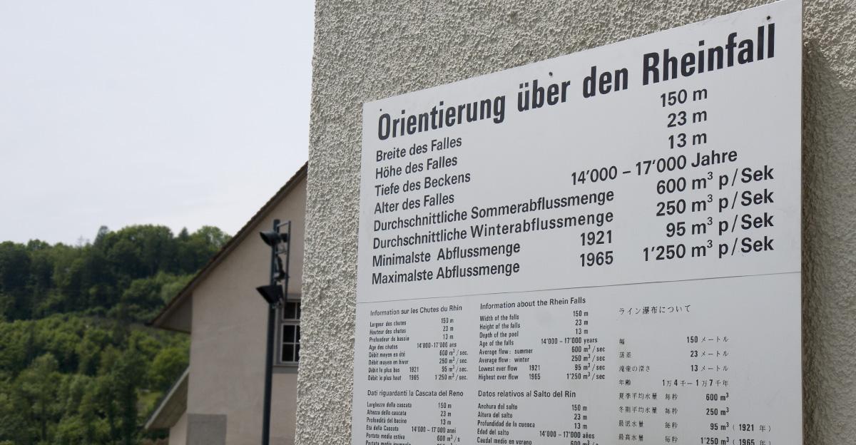 Über den Rheinfall.