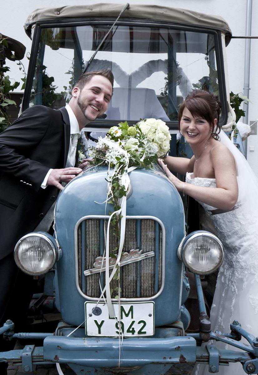 Das etwas andere Hochzeitsauto.
