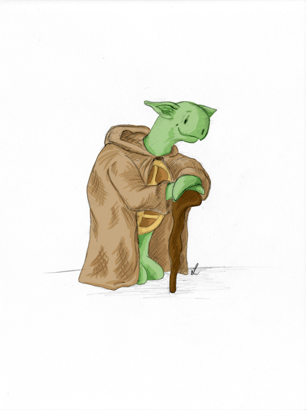 Kröt als Yoda.