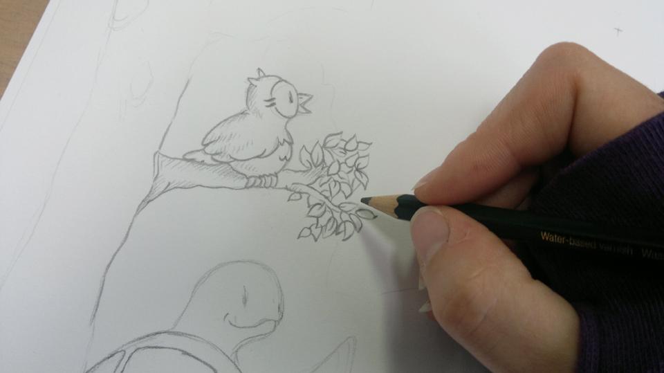 Die Arbeit mit dem Bleistift: Blatt für Blatt.