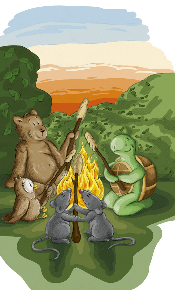 Den Tag ausklingen lassen bei Lagerfeuerromatik mit Freunden.