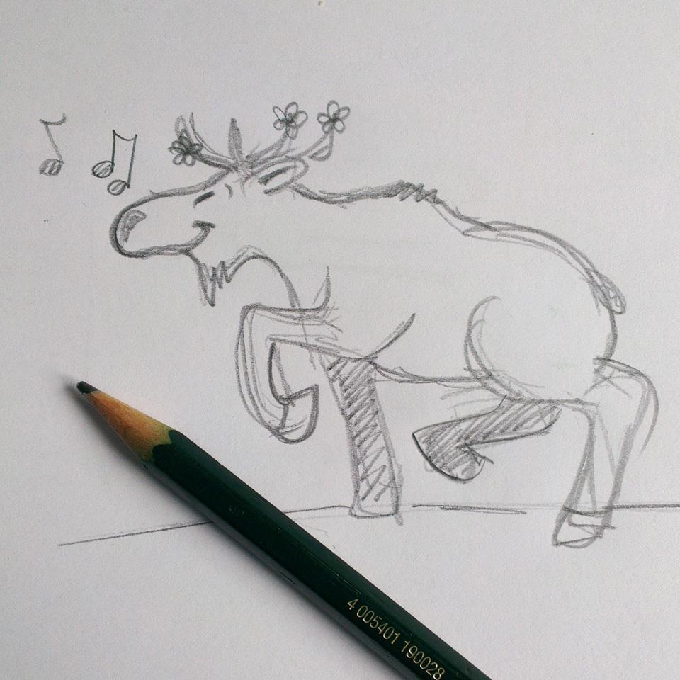 """""""Dancing Elch"""" – na, wer weiß in welchem Monat er durch den Kalender tanzt?"""