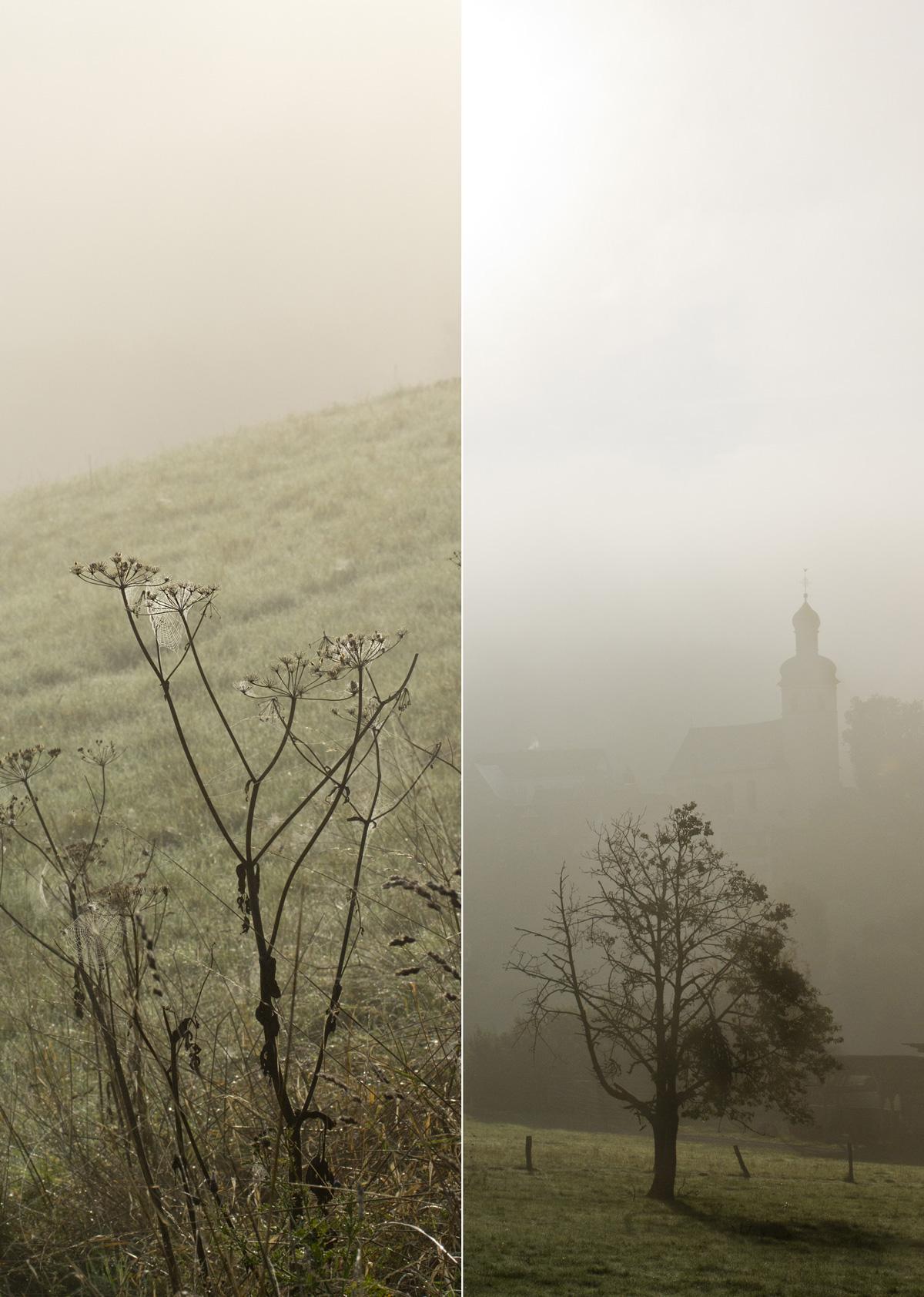 Nebel über Haintchen / Taunus.