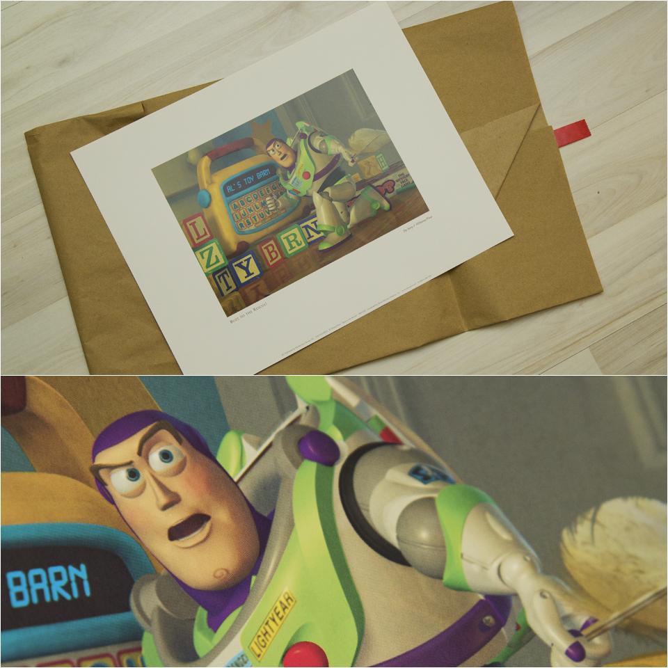 """""""Buzz to the Rescue!"""" Kunstdruck aus Toy Story 2 zu gewinnen."""