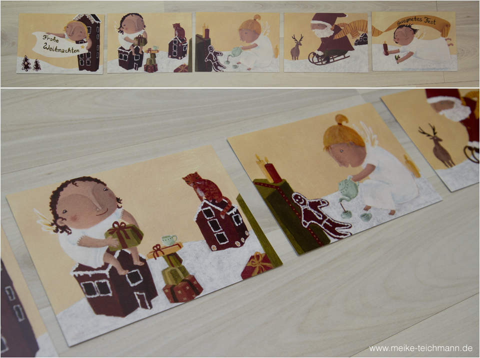 Zu Gewinnen: Weihnachtskarten-Set von Meike Teichmann.