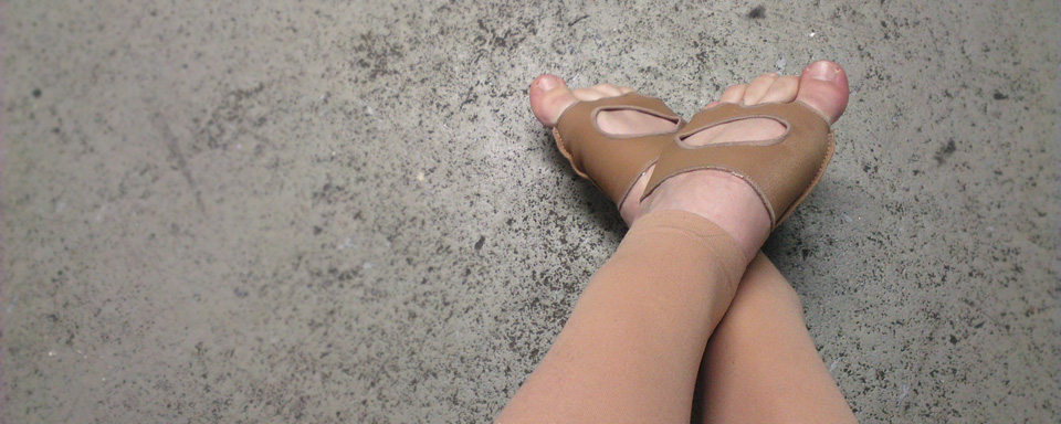 Meine Füße ready zum Tanzen.