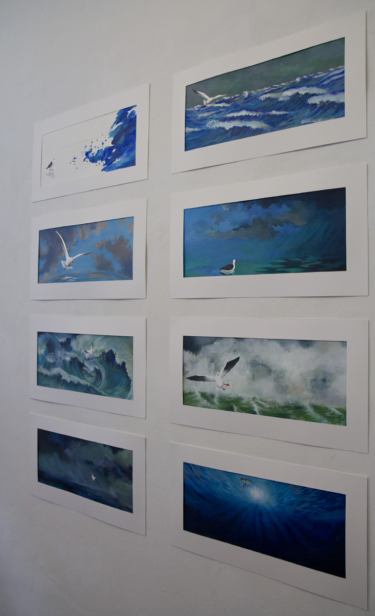 """Bilder aus dem Buch """"Die Möwe und ein Meer von Farben"""" von Daniela Chudzinski."""