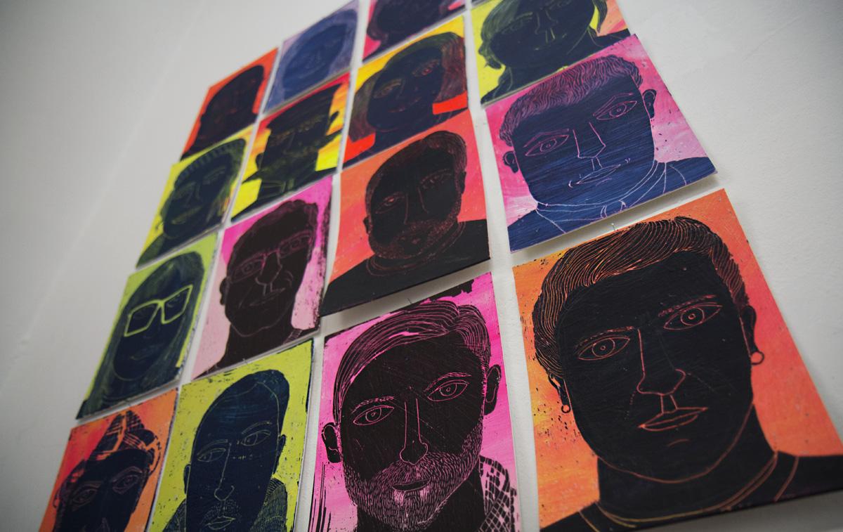 Nordische Gesichter - Arbeiten von Gabriela Kilian.