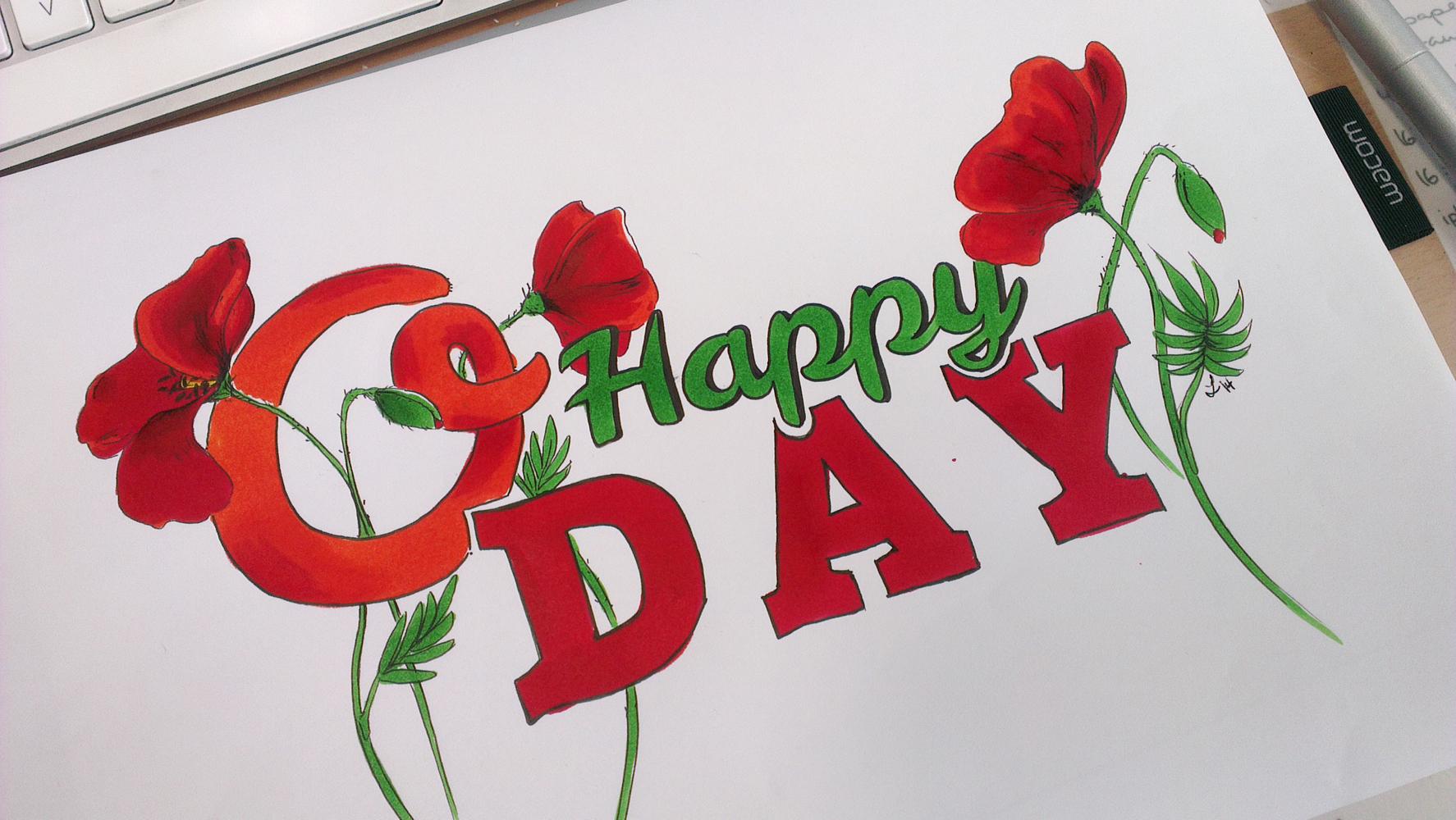 """O Happy Day"" coloriert mit den Stylefile Markern Brush."