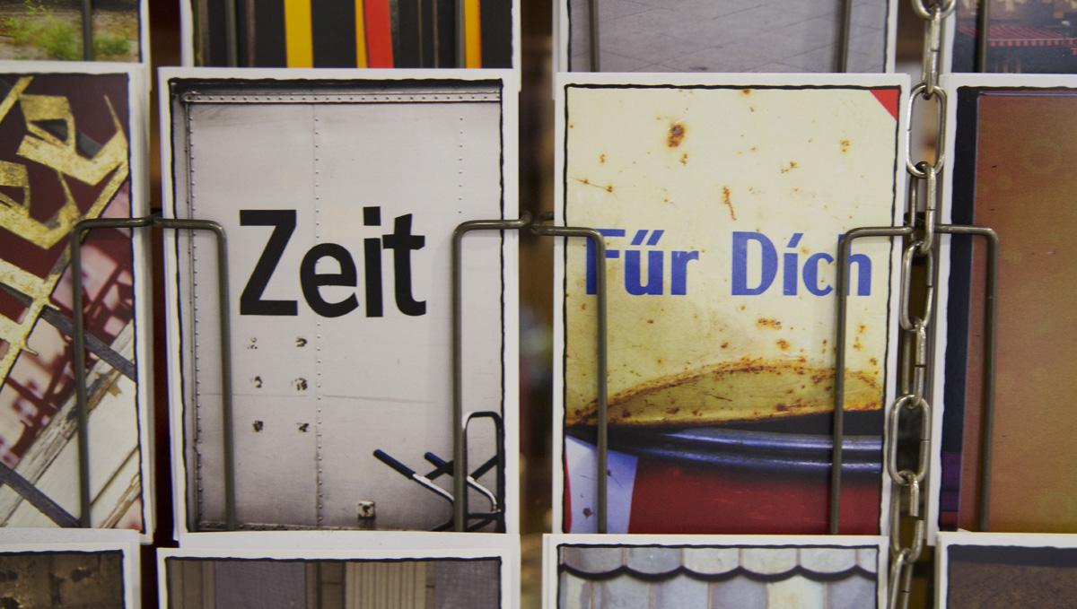 """""""Zeit – Für Dich"""" Postkartenliebe."""