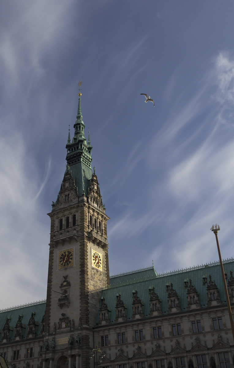 Das Hamburger Rathaus.