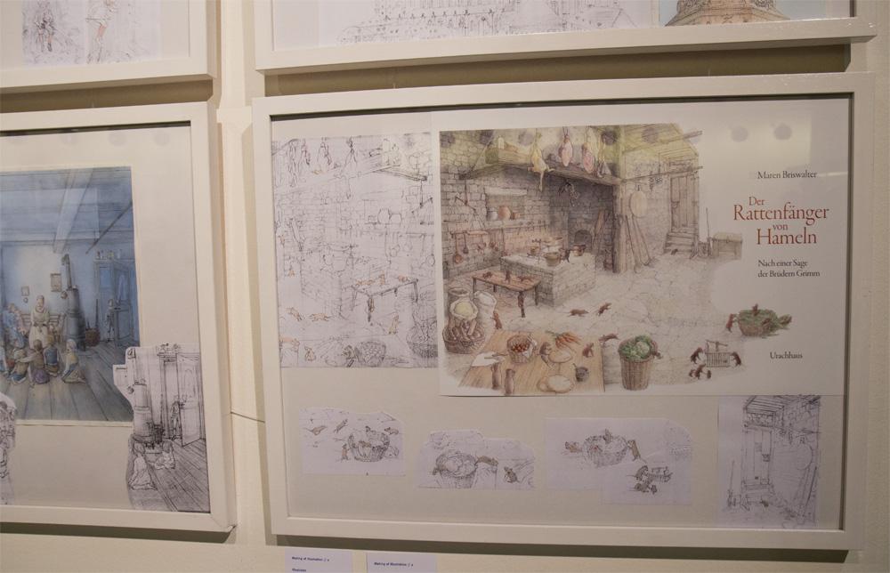 """Skizzen und fertige Bilder - Hier """"Der Rattenfänger von Hameln"""""""