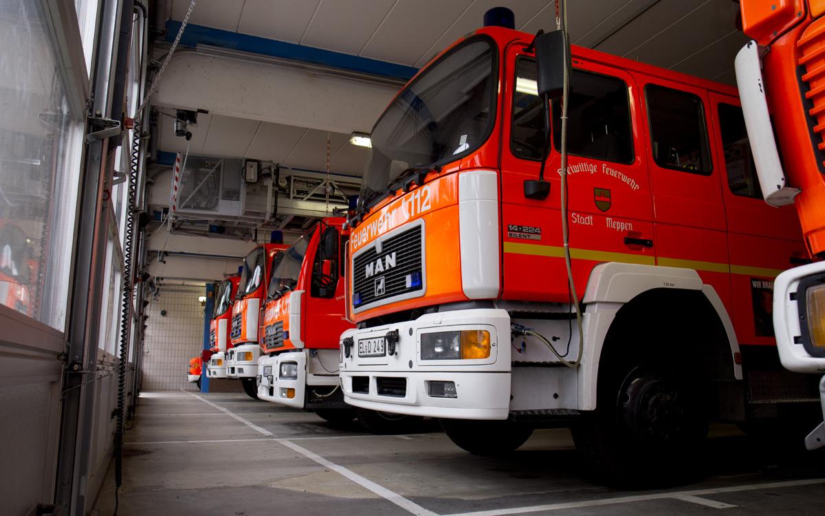 Die Fahrzeuge der Freiwilligen Feuerwehr Meppen.