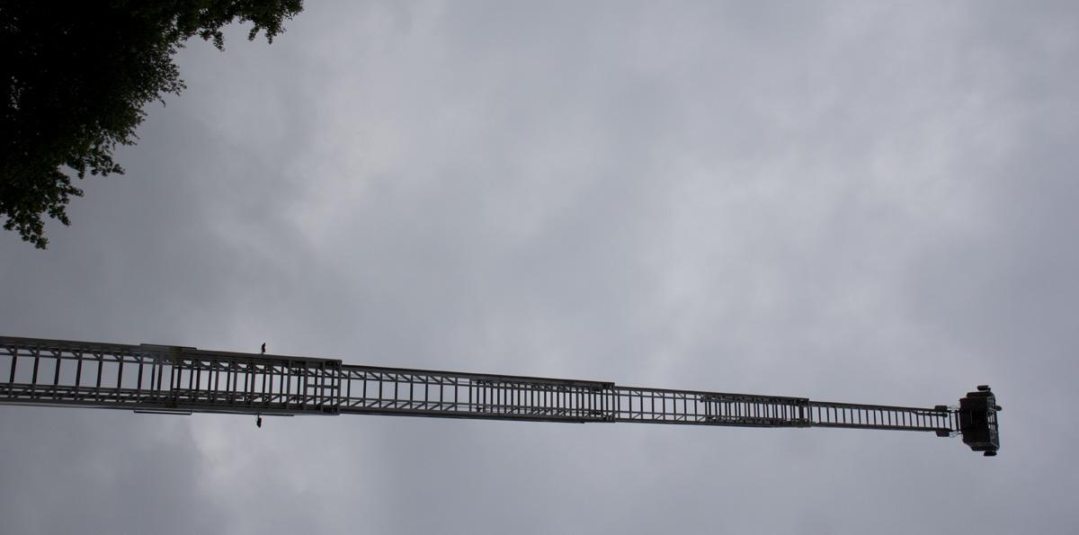 Hoch oben im grauen Himmel… von unten war es dann noch schlimmer, als von oben.
